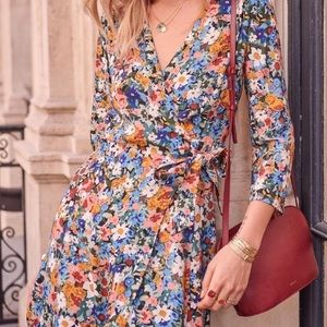 Sezane floral Nadia Dress